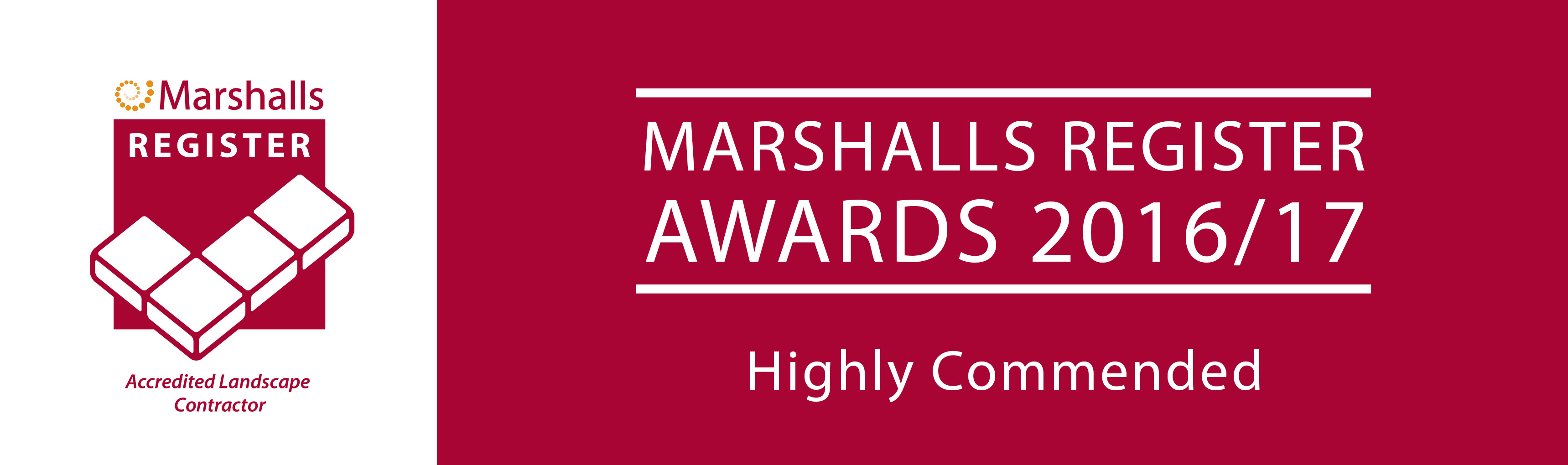 Marshalls Register Awards Highly Commended 2016-17