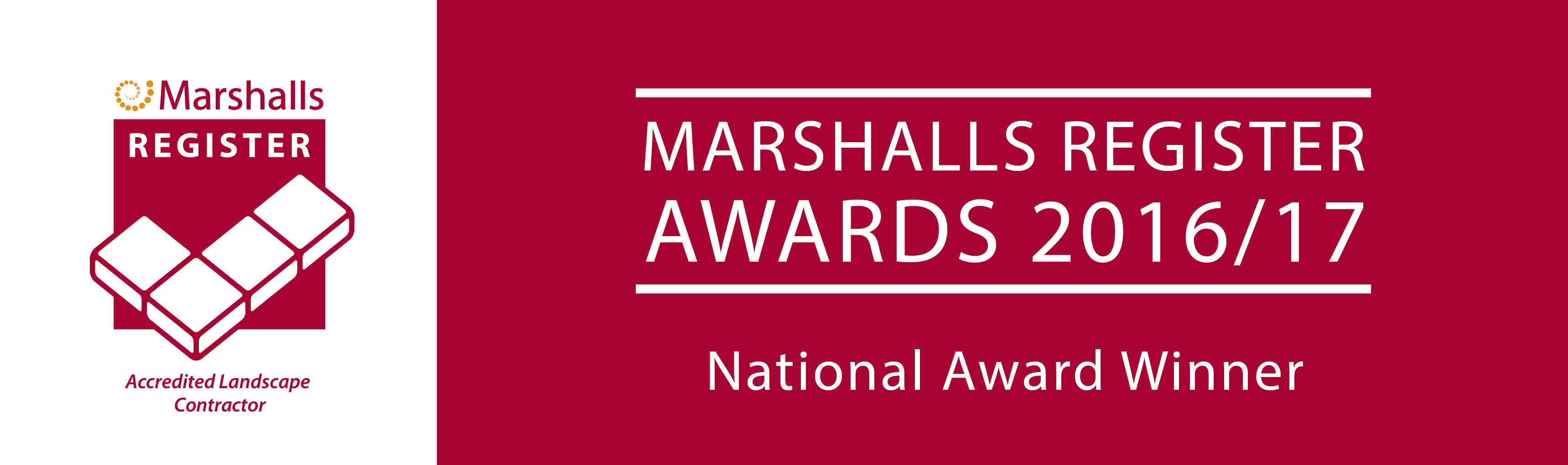 Marshalls Register Awards National Award Winner 2016-17